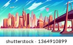 san francisco bay landscape... | Shutterstock .eps vector #1364910899
