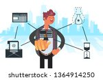 technologies for connection.... | Shutterstock .eps vector #1364914250