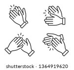 clapping hands icon. applause...   Shutterstock .eps vector #1364919620