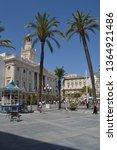 facade of cadiz city hall...   Shutterstock . vector #1364921486