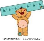 happy teddy bear holding a blue ...   Shutterstock .eps vector #1364939669