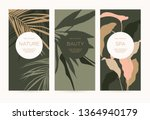 a set of minimalistic templates ... | Shutterstock .eps vector #1364940179