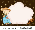 background with blank cloud...   Shutterstock .eps vector #1364941649
