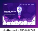 website landing home page with... | Shutterstock .eps vector #1364942270