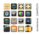 set of app film icons | Shutterstock .eps vector #136495274