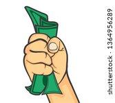 hand make fist holding money | Shutterstock .eps vector #1364956289