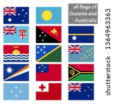 collection of flags from all... | Shutterstock .eps vector #1364963363