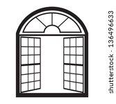 Open Window Outline Vector