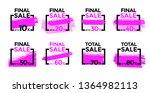 set of vector sale signs. pink... | Shutterstock .eps vector #1364982113