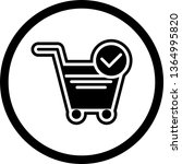 verified cart items icon design  | Shutterstock .eps vector #1364995820