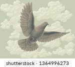 flying dove in the sky. hand... | Shutterstock .eps vector #1364996273