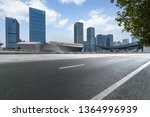 empty urban road with modern... | Shutterstock . vector #1364996939