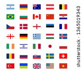 a set of flags icons. vector... | Shutterstock .eps vector #1365019343