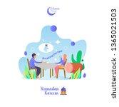 islamic ramadan theme breaking...   Shutterstock .eps vector #1365021503