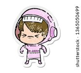distressed sticker of a angry...   Shutterstock . vector #1365050699