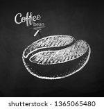 black and white vector chalk...   Shutterstock .eps vector #1365065480