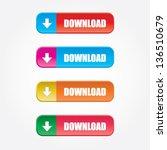 download buttons | Shutterstock .eps vector #136510679