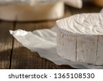 Cropped Shot Of Camembert...