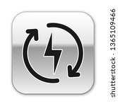 black recharging icon isolated... | Shutterstock .eps vector #1365109466