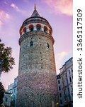 galata tower at purple night.... | Shutterstock . vector #1365117509