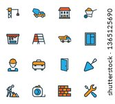 building icons colored line set ... | Shutterstock .eps vector #1365125690