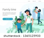 young family with their...   Shutterstock .eps vector #1365125933