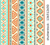 tribal ethnic seamless | Shutterstock .eps vector #136512650