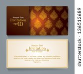 invitation card design  thai... | Shutterstock .eps vector #136512689