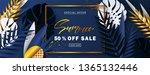 summer sale banner.beautiful... | Shutterstock .eps vector #1365132446