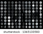 set of minimalistic wireframe... | Shutterstock .eps vector #1365133583