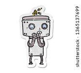 distressed sticker of a nervous ... | Shutterstock . vector #1365137699