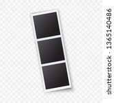 photo frame template. polaroid... | Shutterstock .eps vector #1365140486