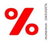 discount percent sign  vector... | Shutterstock .eps vector #1365142076