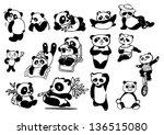 set of panda bears.eps10 | Shutterstock .eps vector #136515080
