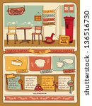 retro style cafe elements 4 | Shutterstock .eps vector #136516730
