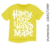t shirt with hand drawn vector... | Shutterstock .eps vector #1365171989