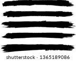 grunge paint roller . vector... | Shutterstock .eps vector #1365189086