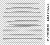 shadow dividers. line paper... | Shutterstock . vector #1365195326