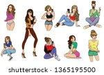 different sexy beautiful girls. ...   Shutterstock .eps vector #1365195500