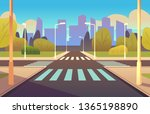 cartoon crosswalks. street road ... | Shutterstock . vector #1365198890