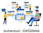 this illustration shows a young ... | Shutterstock .eps vector #1365200666