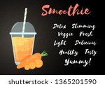 orange natural smoothie carrot... | Shutterstock .eps vector #1365201590
