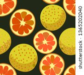 red grapefruits seamless vector ... | Shutterstock .eps vector #1365202040