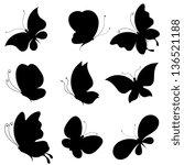 butterflies design | Shutterstock .eps vector #136521188