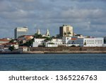 City center view from the sea at Sao Luis on Brazil