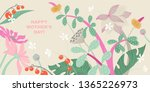 mother's day greeting banner... | Shutterstock .eps vector #1365226973