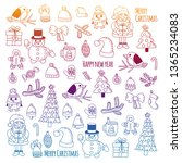christmas element in doodle... | Shutterstock .eps vector #1365234083