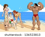 funny illustration about... | Shutterstock .eps vector #136523813