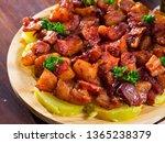 traditional galician fair dish...   Shutterstock . vector #1365238379