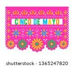 cinco de mayo. papel picado... | Shutterstock .eps vector #1365247820